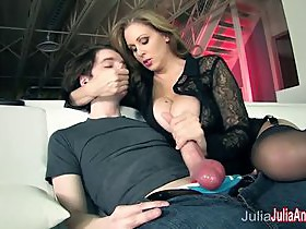 Busty Milf Julia Ann Makes Boy Toy Cum on His Face!